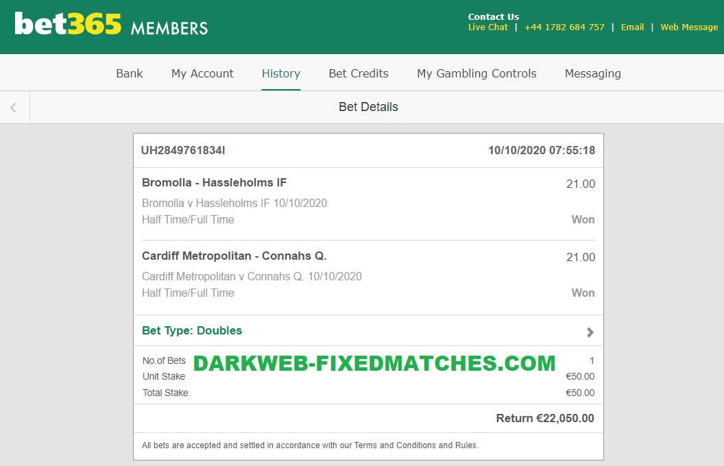 10 10 fixed matches ht ft won