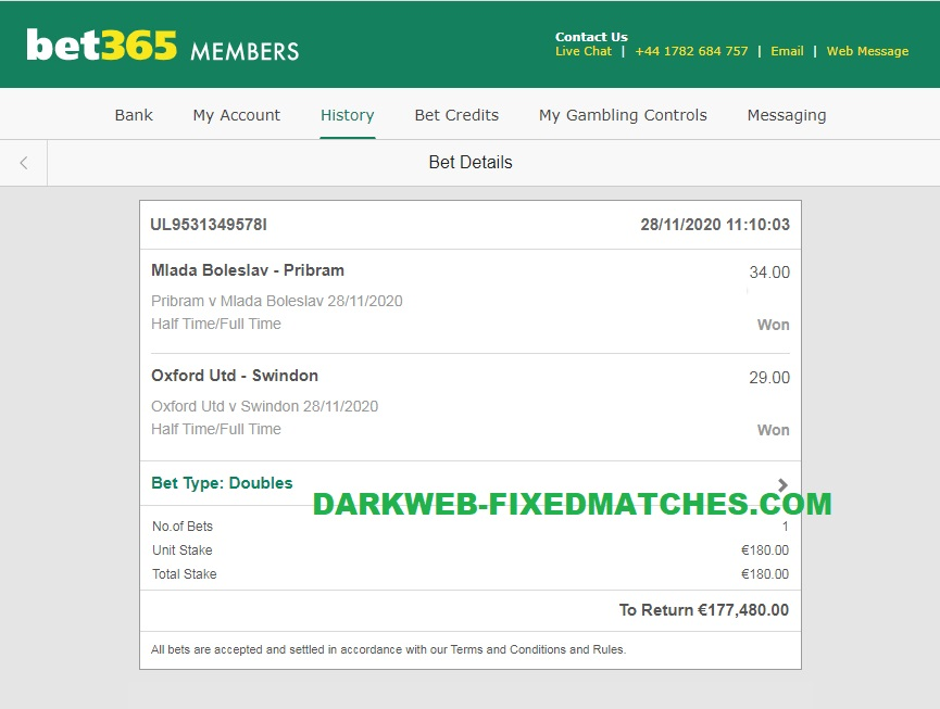 dark web fixed matches htft double won 28 11