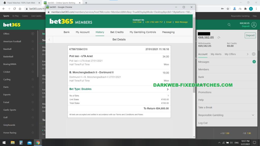 darkweb fixed matches ht ft football 100% sure win 27 01