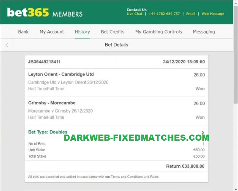 double ht ft fixed matches won 26 12