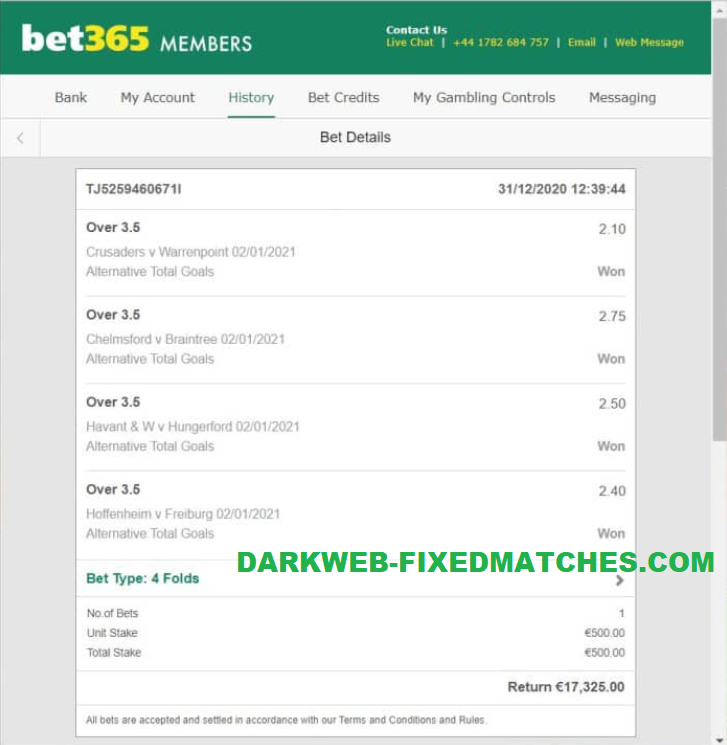 fixed matches vip combined dark web 02 01