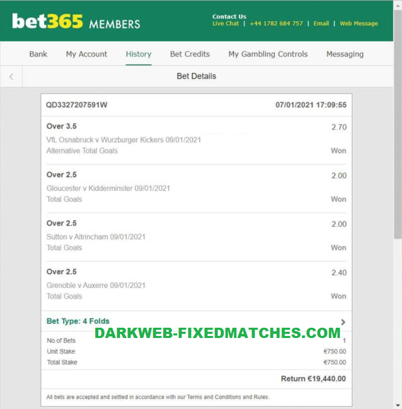 football fixed matches won dark web 09 01