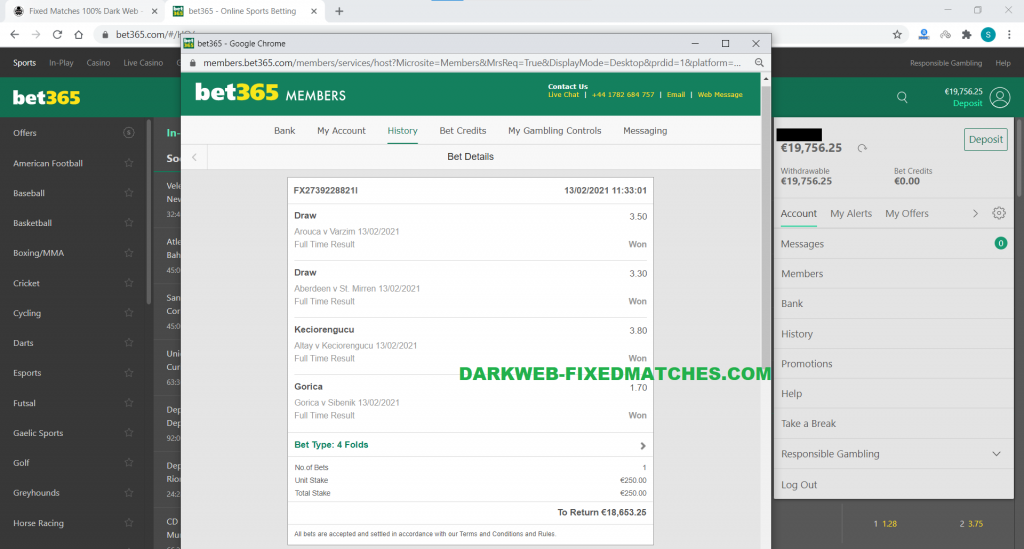 soccer combined fixed matches won 13 02 dark web