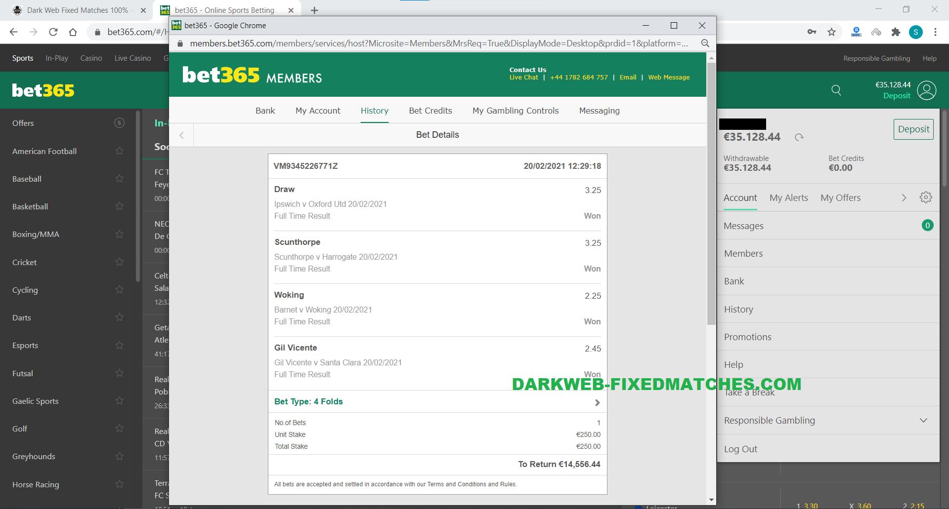 vip combo ticket fixed matches won dark web 20 02
