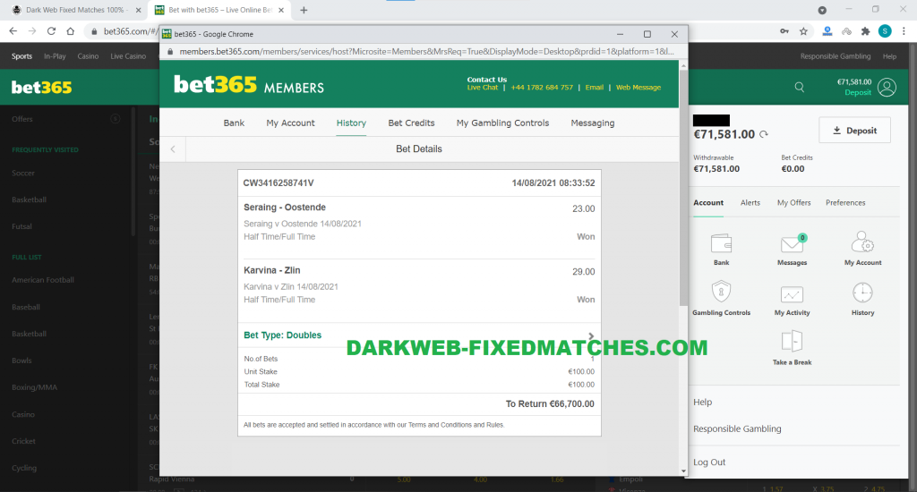 DARK WEB FORUM FIXED MATCHES WON 14 08 DOUBLE HT FT WIN