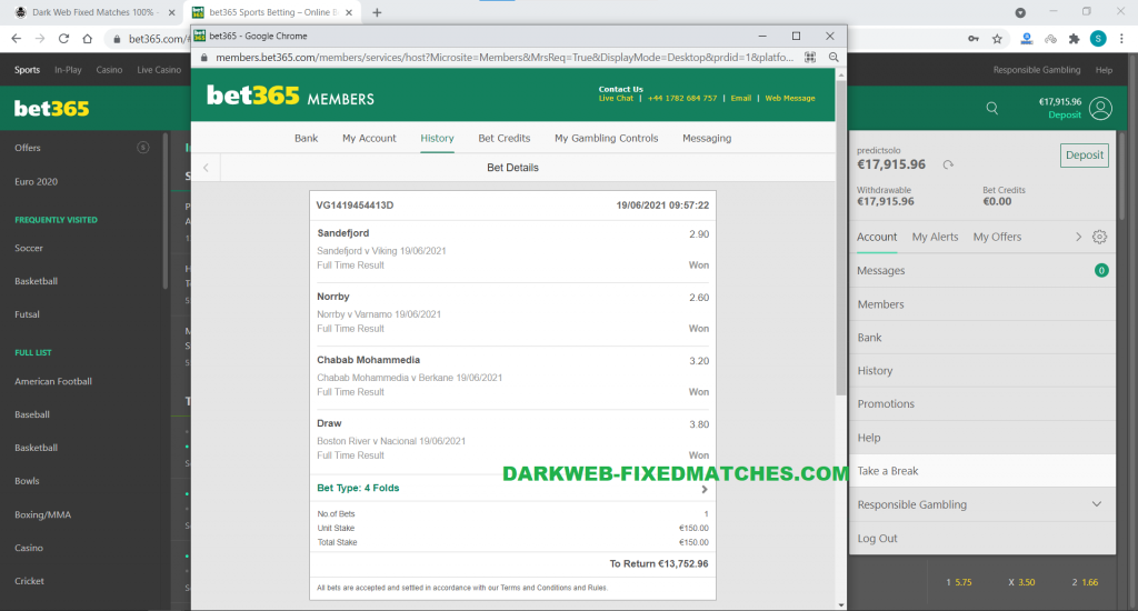 dark web fixed combined matches won soccer 19 06