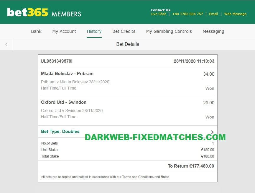 dark web fixed matches htft double won 28 11