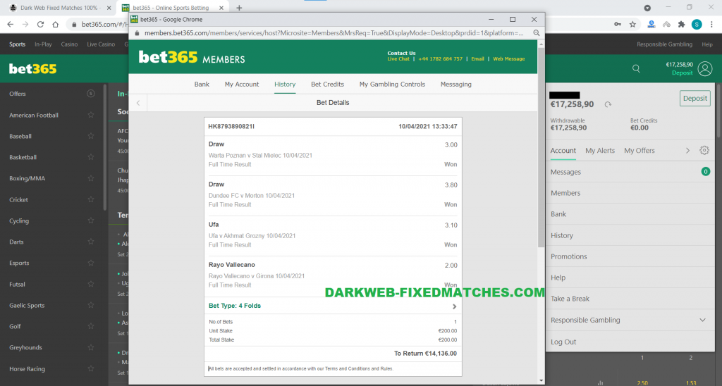 dark web fixed matches soccer fixed matches won 10 04