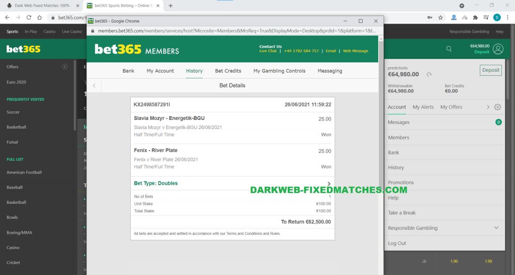 darkweb fixed matches ht ft won 26 06