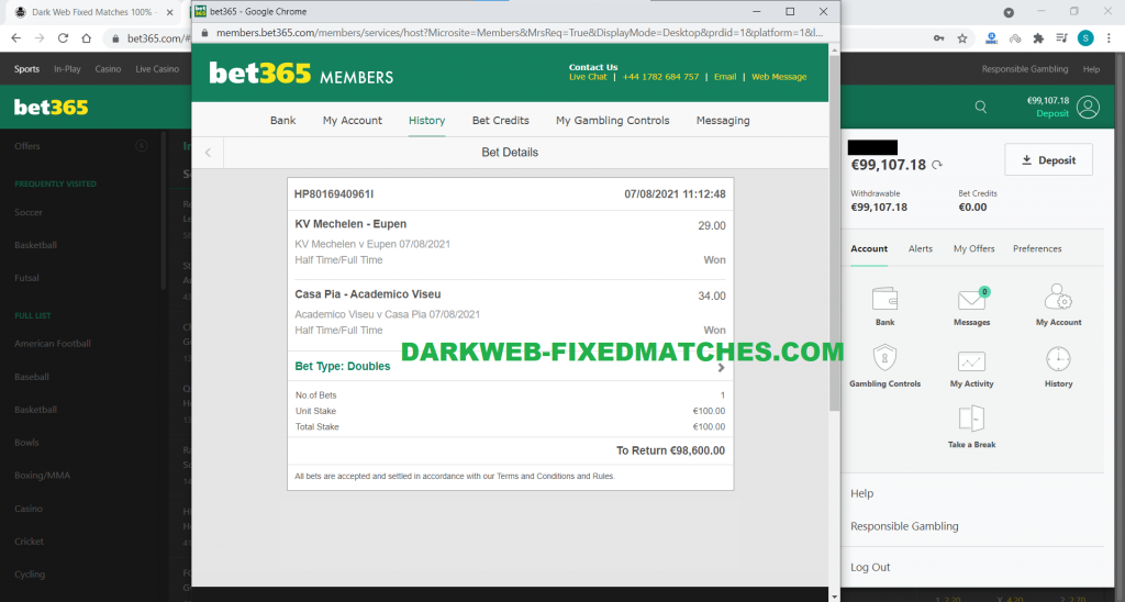double halftime fulltime fixed matches soccer won dark web 07 08