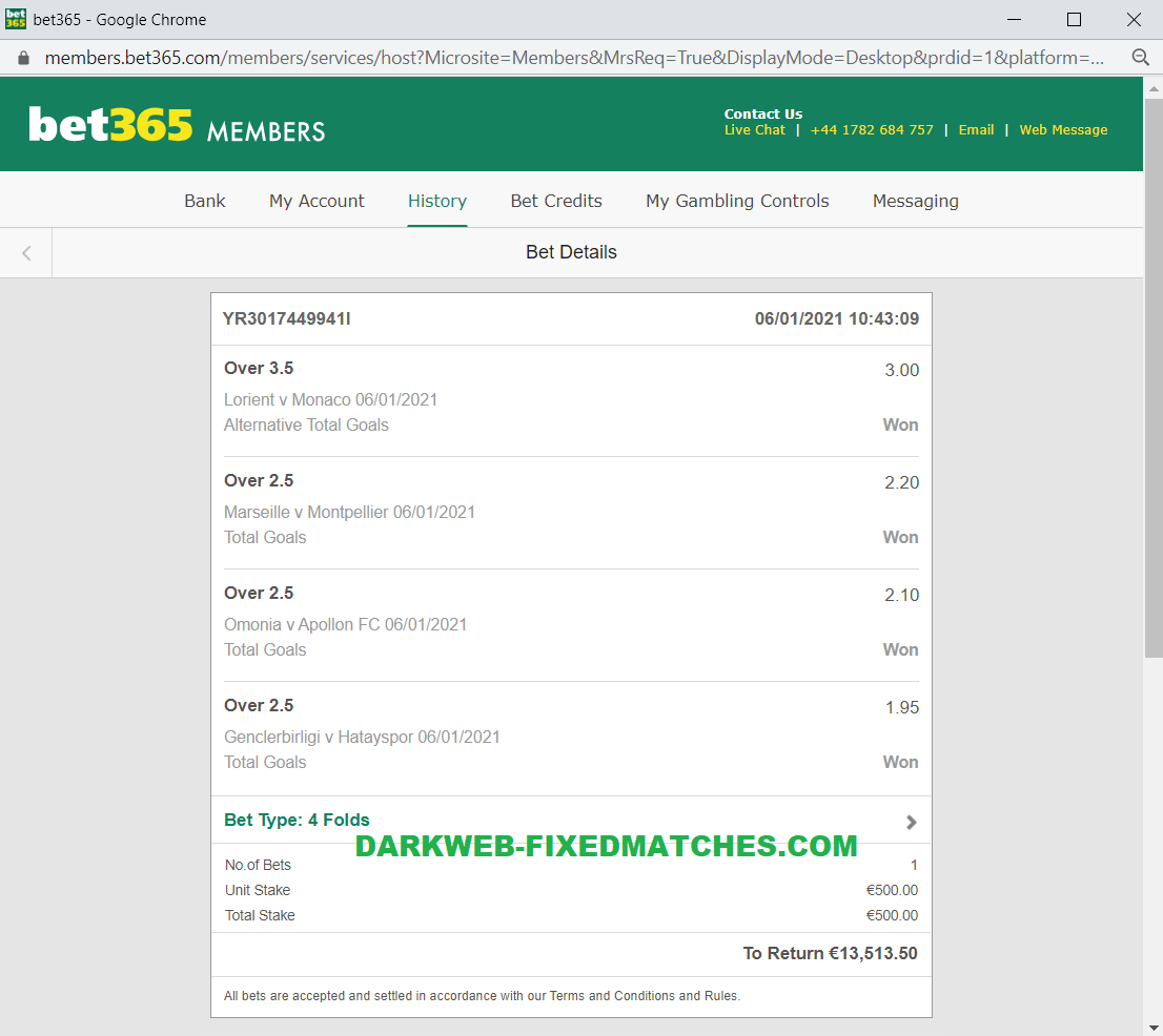 fixed matches combo won 06 01 2021