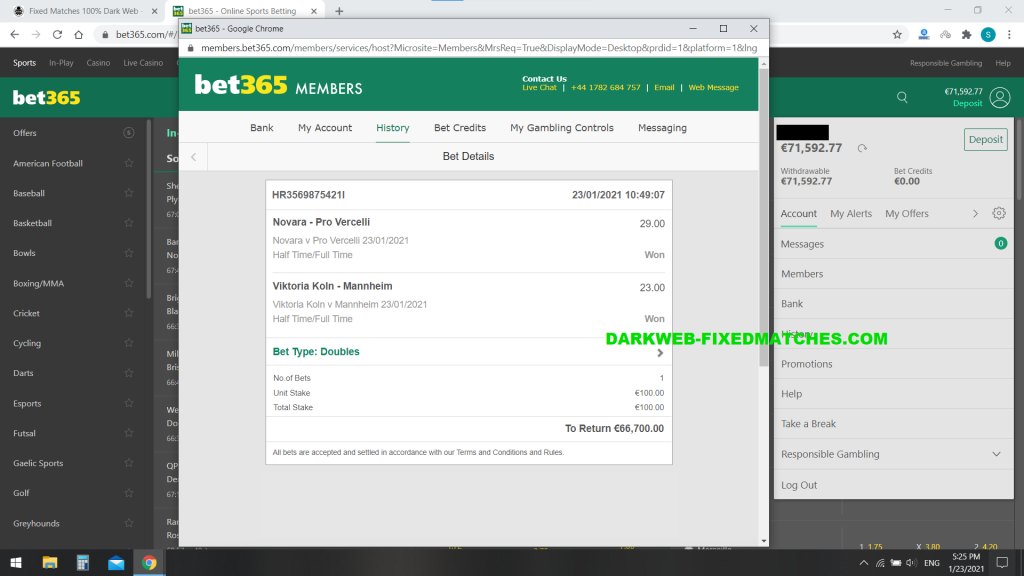 fixed matches halftime fulltime football 100% sure win dark web 23 01