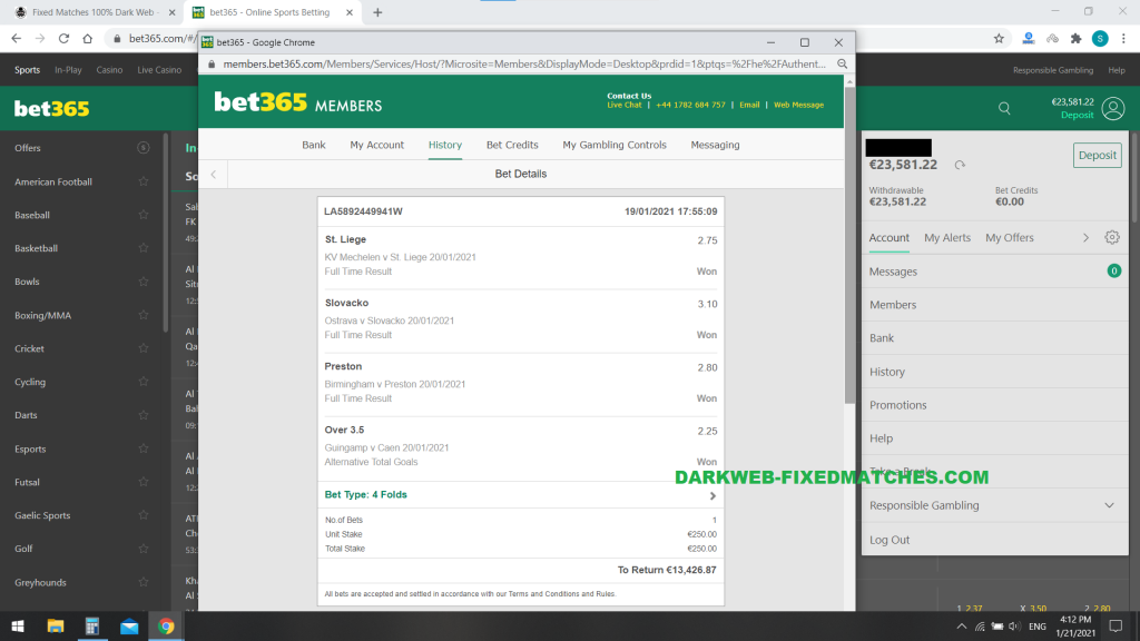 football fixed matches combined won betslip 20 01 darkweb