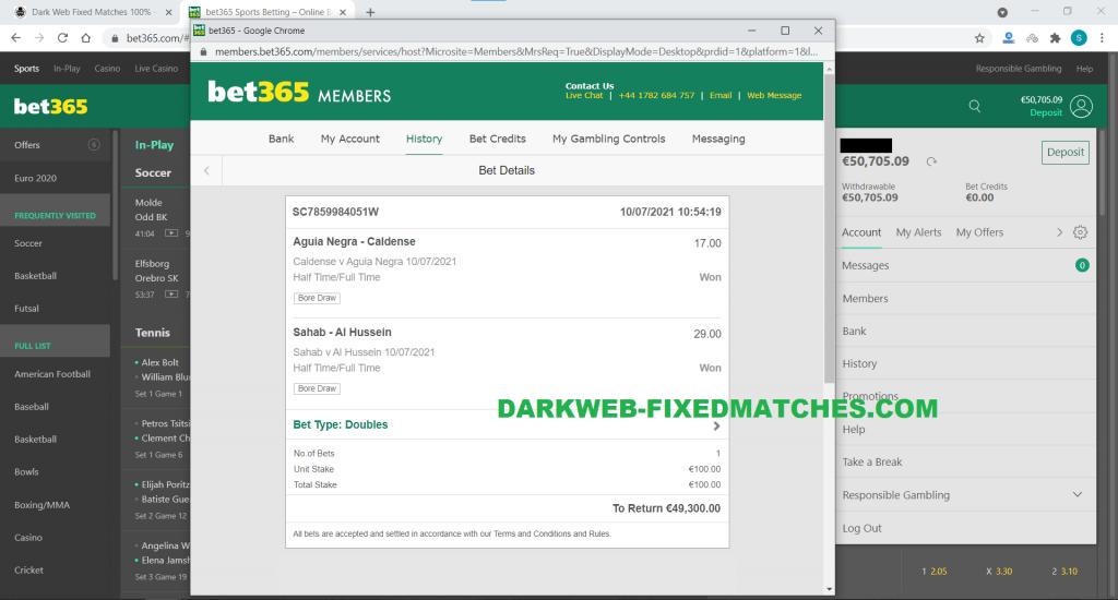 football fixed matches won 10 07 dark web