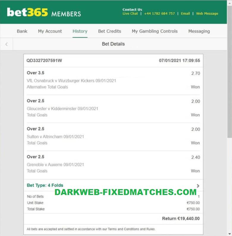 football fixed matches won dark web 09 01
