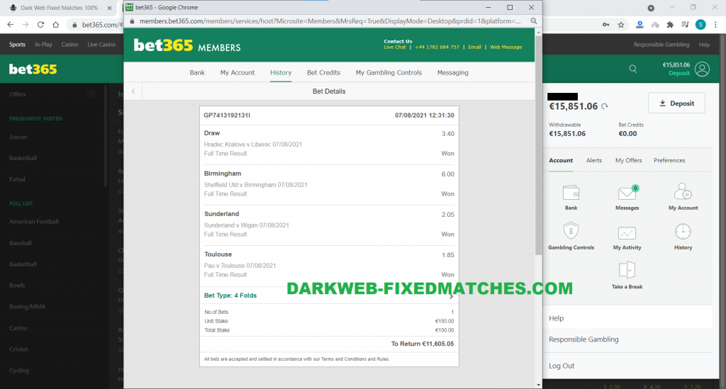 soccer combined fixed matches by dark web 07 08