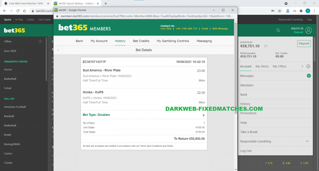 soccer fixed matches double ht ft won dark web
