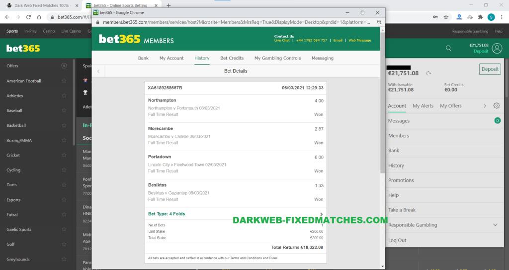 soccer fixed matches won 06 03 dark net